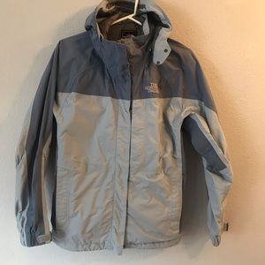 Size M North Face light blue jacket